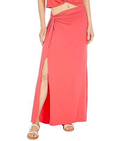 bobi Los Angeles Draped Modal Jersey Knot Skirt
