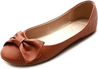 Ollio Women's Shoe Cute Ribbon Accent Ballet Flat