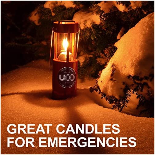 UCO Candle Lantern 3.5-Inch Candles, 3-Pack, 12-Hour Beeswax 4