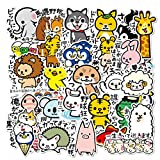 Cute Animal Cartoon Sticker Pack 36PCS Cute Anime Laptop Stickers Vinyl Waterproof Stickers for Latop Skateboard Guitar Travel Bicycle Luggage Water Bottle