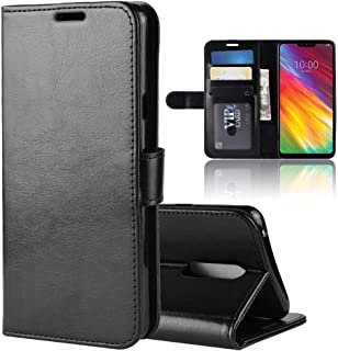Mobile phone case R64 Texture Horizontal Flip Leather Case For LG G7 Fit, With Holder & Card Slots & Wallet (Color : Black)
