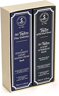 Mr. Taylor Shaving Cream Tube 75g and Aftershave Balm 75g in Gift Box gift box by Taylor of Old Bond Street
