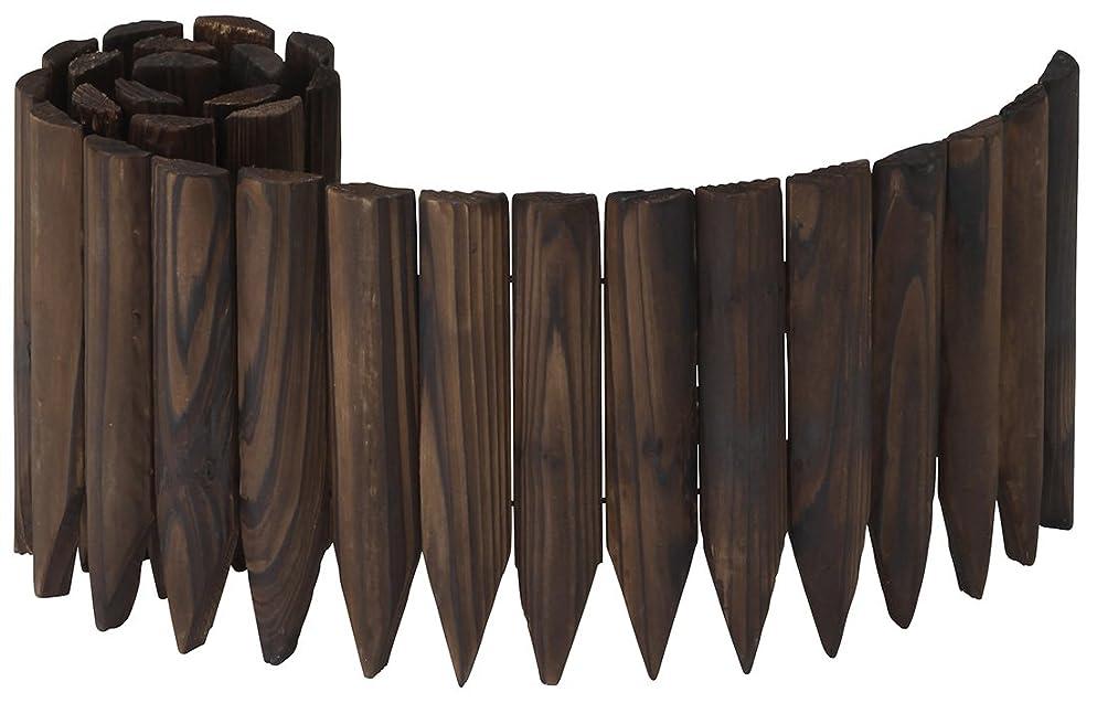スリム運賃野生タカショー ガーデンエッジ 焼磨き 20×100cm