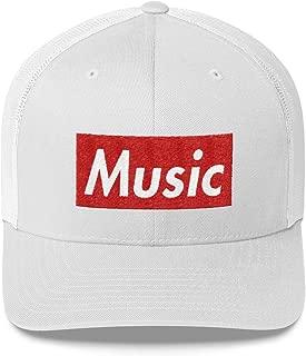 Music Hat (Supreme Box Logo Style) Trucker Cap