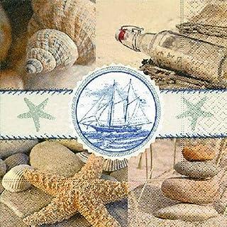 Ambiente servet Maritim Zee Souvenier 20 stuks per verpakking 33x33 cm