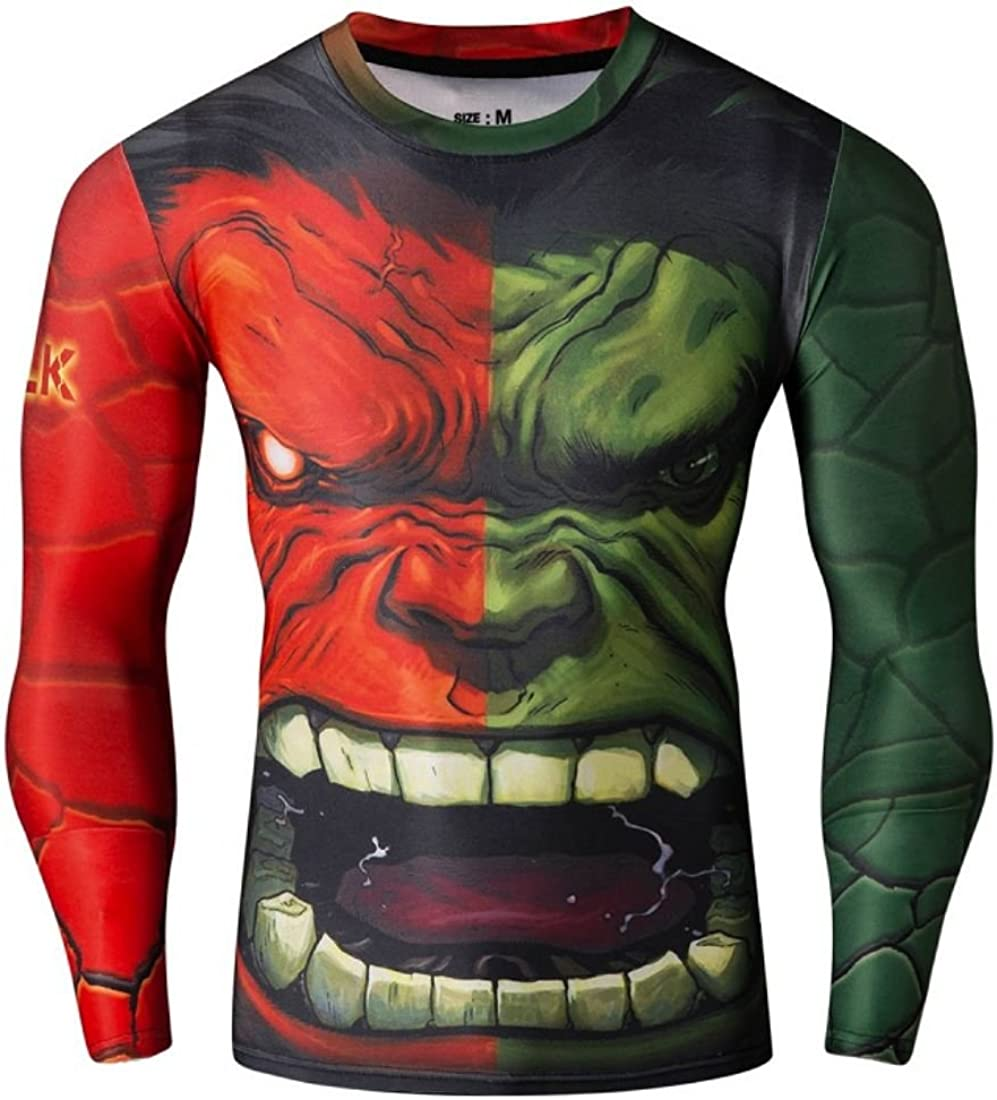 Red Plume Men's Popular brand Seattle Mall Compression Sports Giant Fitness Shirt Lo Green