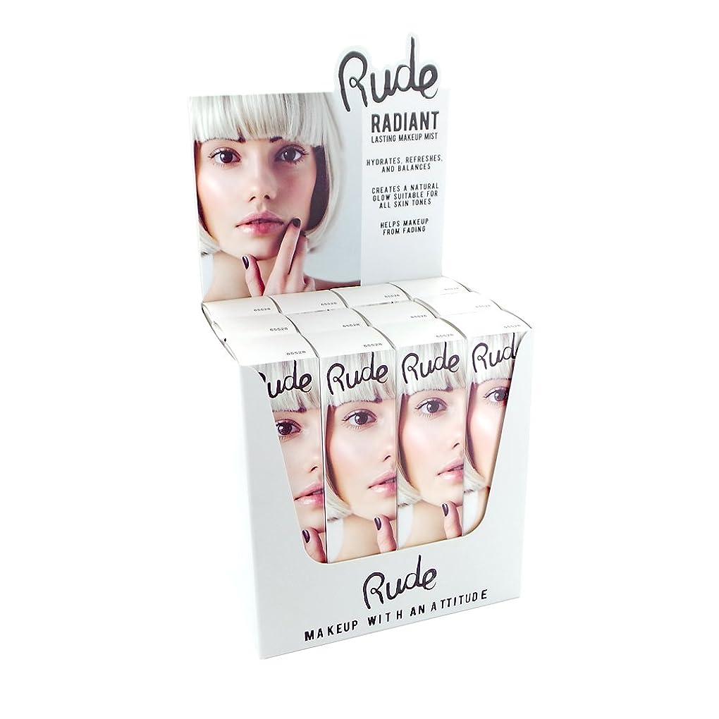 開示する平方骨の折れるRUDE Radiant Lasting Makeup Mist Display Set, 12 Pieces (並行輸入品)