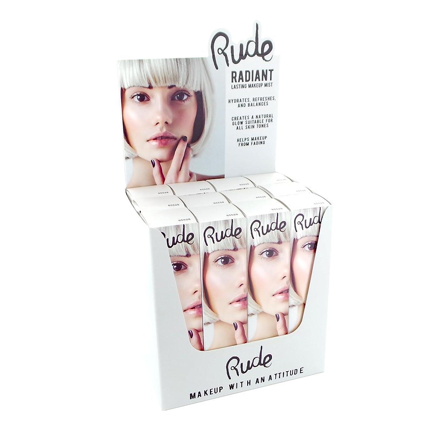 自殺すばらしいです最も遠いRUDE Radiant Lasting Makeup Mist Display Set, 12 Pieces (並行輸入品)