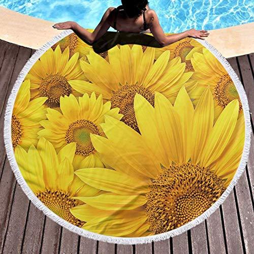 Toalla de Playa Redonda Ultra Ligeras, absorbentes, de Secado rápido - redonda estera de la yoga Deporte Viaje Playa Gimnasio Bandera, nicaragua 59''