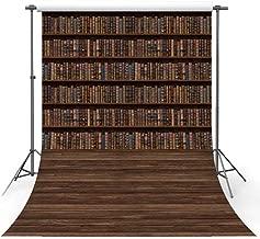MEHOFOTO Kids Books Graduation Backdrop Wood Floor Back to School Photography Background Props 5x7ft