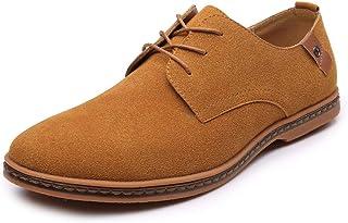 [マクステック] 24.5cm-29.0cm カジュアルシューズ スエード 大きいサイズ メンズ レースアップシューズ 外羽根 ワークブーツ スウェード 革靴 5色選べ カジュアル&ビジネス