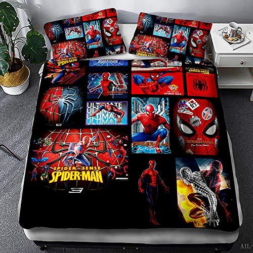 Avengers - Juego de funda nórdica y funda de almohada para niños, niños y jóvenes (A-09,150 x 200 cm (50 x 75 cm)