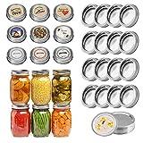 24 Pack Canning Lids Regular Mouth Canning Jar Lids Mason Jar Lids Split-Type Lids Leak Secure Canning Lids