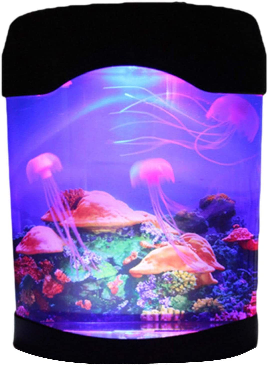 Xiaoyaoyou Jellyfish Tank Night Light with Gorgeous Lamp C Lava