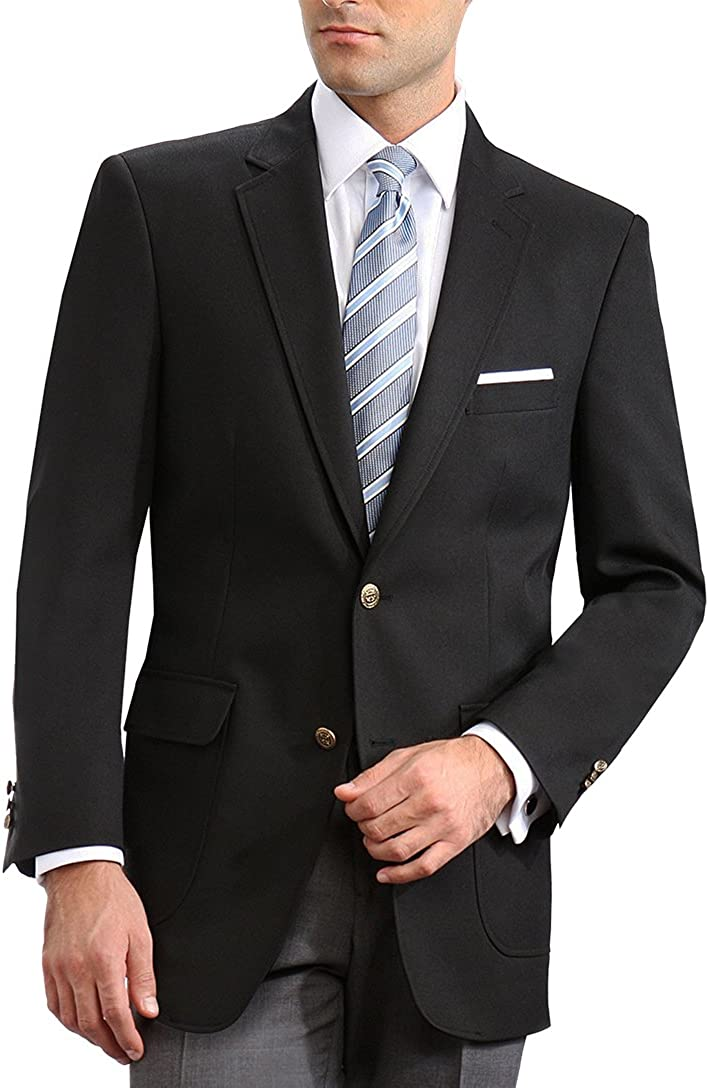 Neil Allyn Ranking TOP19 Elegant Chicago Mall 2 Button Notch Black Sport Blazer Coat
