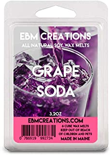 Grape Soda - Scented All Natural Soy Wax Melts - 6 Cube Clamshell 3.2oz Highly Scented!