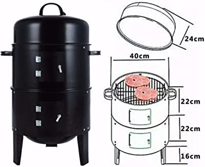 Soddyenergy Charcoal Water Smoker Grill Outdoor BBQ Barbecue Cooker Backyard Camping Patio