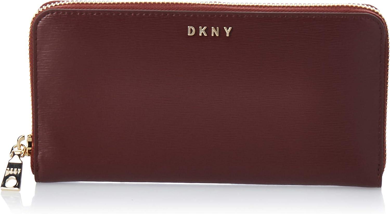 DKNY Bryant New Zip Around Aged Wine