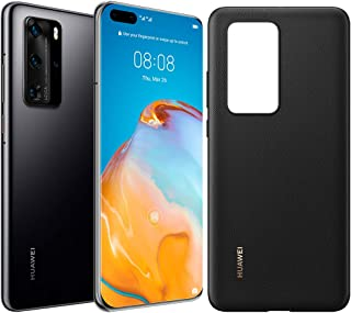 HUAWEI P40 Pro 256 GB 6.58 Inch Smartphone Bundle with PU Case, Kirin 990 5G, 50 MP Ultra Vision Leica Quad Camera, 8 GB R...