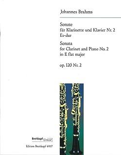 ブラームス : ソナタ 第二番 変ホ長調 作品120-2 (クラリネット、ピアノ) ブライトコプフ出版