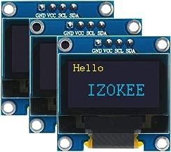 IZOKEE 0.96'' I2C IIC 12864 128X64 Pixel OLED LCD Display Shield Board Module SSD1306 Chip 4 Pin for Arduino Display Raspberry Pi 51 Msp420 Stim32 SCR (Pack of 3pcs, Yellow-Blue-IIC)