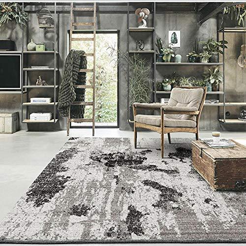 La alfombras Decoracion habitacion niño Tinta Negra Gris Alfombra de Agua Lavado Suave salón. dormitorios Juveniles Decoracion Cuarto Adolescente 200*300cm