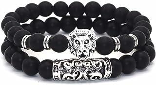 Lion & Son - Bracciale Buddha, da donna, stile vintage, alla moda e Lega, colore: Lion opaco., cod. 362-LION-MATT_mfn