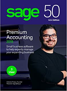 Sage Software 50 Premium Accounting 2019 – Advanced Accounting Software – Safe and Secure – Inventory Tracker – Manage Jobs & Expenses – Multi-User Capable