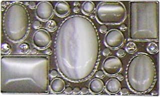 Modestone Unisex Antiqued Iron Cross Belt Buckle With 5 Stones O//S Silver