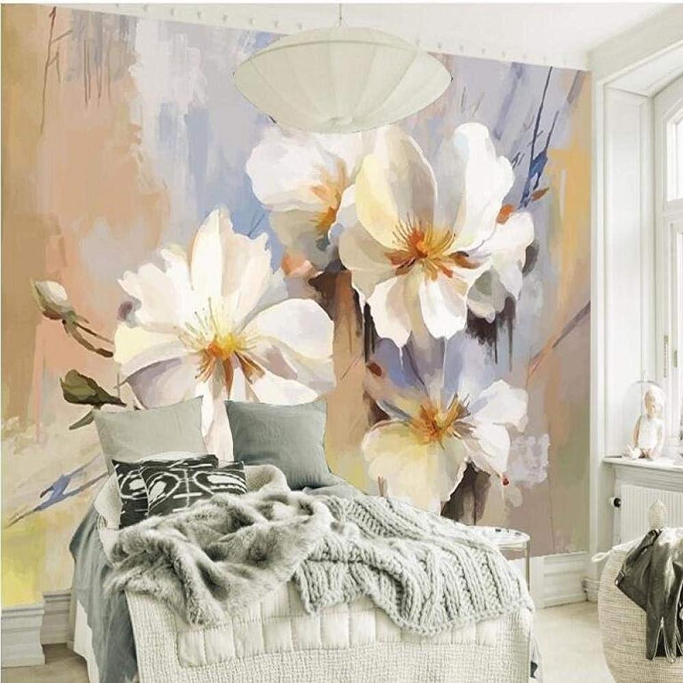 変形内側慣性Ljjlm カスタム大規模壁画手描きの新鮮な牧歌的な絵画花テレビの背景壁紙Papel De Parede-350X230Cm