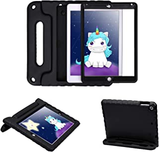 HDE Case for iPad Air 2 - Kids Shockproof Bumper Hard Cover Handle Stand with Built in Screen Protector for Apple iPad Air 2 - 2014 Release 2nd Generation (Black)