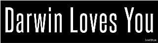 EvolveFISH Darwin Loves You Bumper Sticker 11