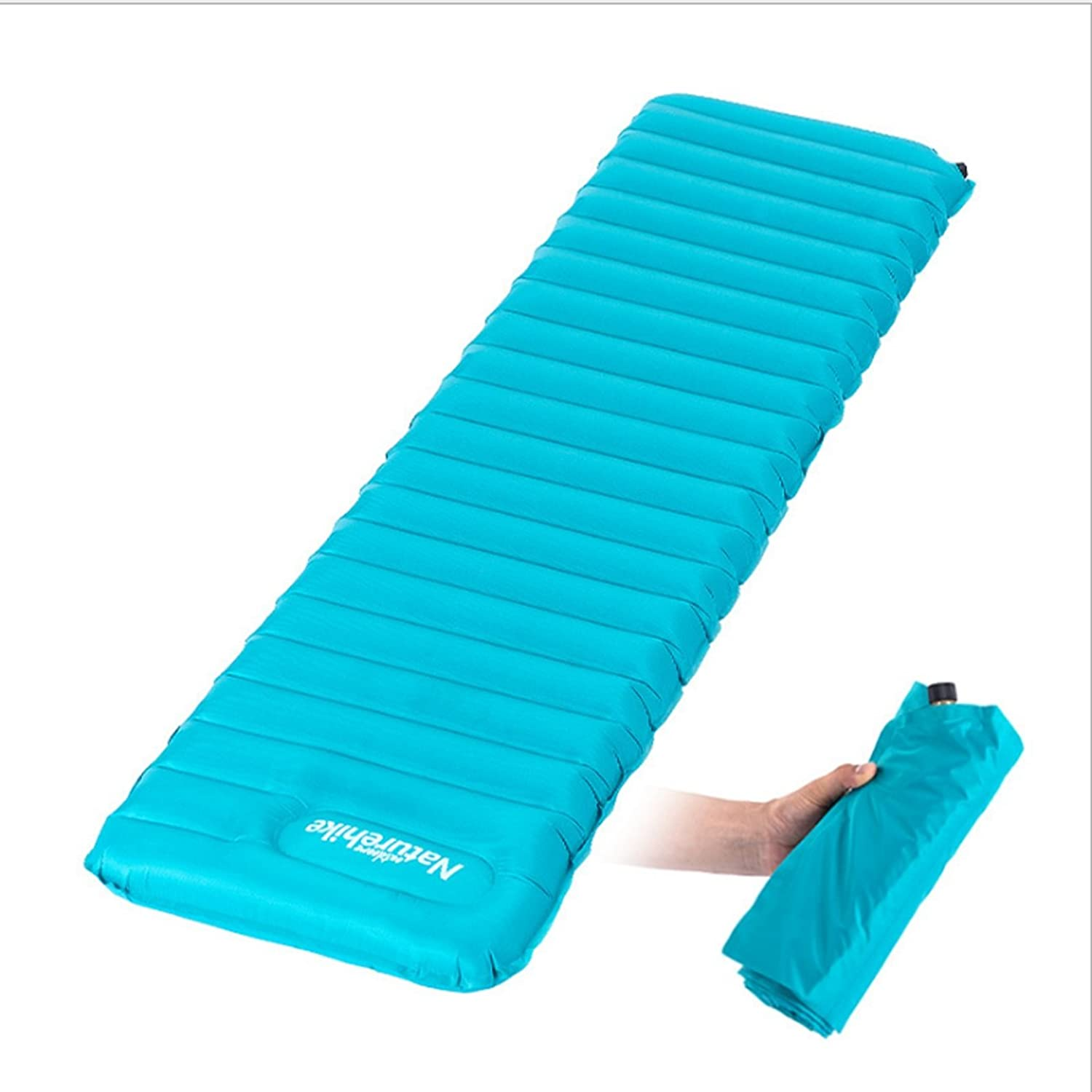 Inflatable Camping Roll Mat Self Quick Inflating Sleeping Mat with Repair Patches for Camping,Hiking,Travelling,Backpacking