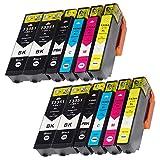Teng Cartouches d'encre Epson 33 33XL Compatible avec Epson Expression Premium XP-540 XP-7100 XP-530 XP-640 XP-635 XP-630 XP-645 XP-830 XP-900-4Noir,2Photo Noir,2Cyan,2Magenta,2Jaune