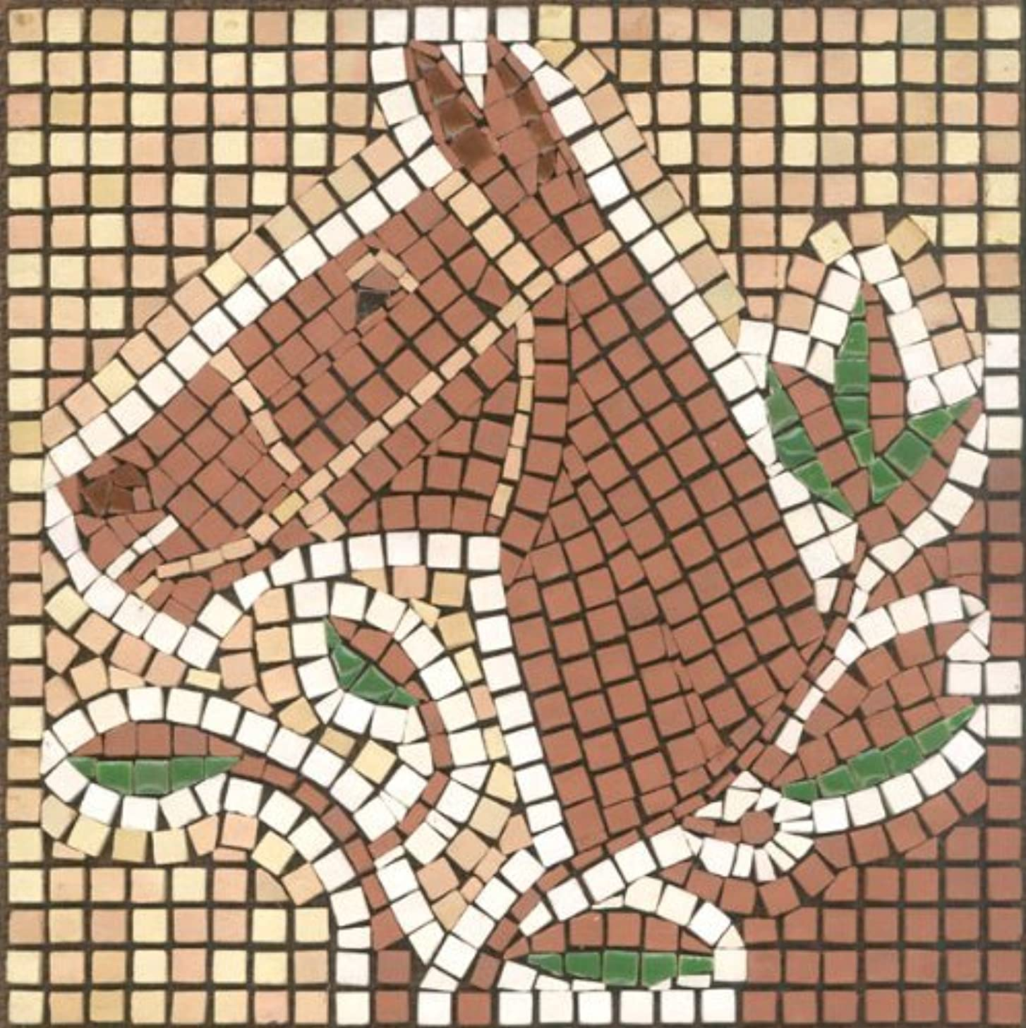 DIY Mosaic Art Kit 5.9'' Square, 15x15cm, Horse