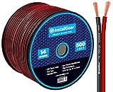 InstallGear 14 Gauge AWG 500ft Speaker Wire Cable - Red/Black