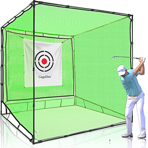 GALILEO Golf Net Hitting Cage Practice Driving Net Indoor&Outdoor High Impact Double Back Stop