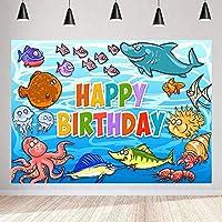 誕生日パーティーのためのZhyオーシャン世界の背景7x5ft / 2.1x1.5m 海の魚の写真の背景 Bdayパーティーの装飾用品の写真撮影の小道具177