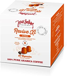 Jones Brothers Coffee - Espresso Capsules (REVIVE, Intensity: 8) Compatible with Nespresso OriginalLine for Single Cup Coffee Pods (50 Count)