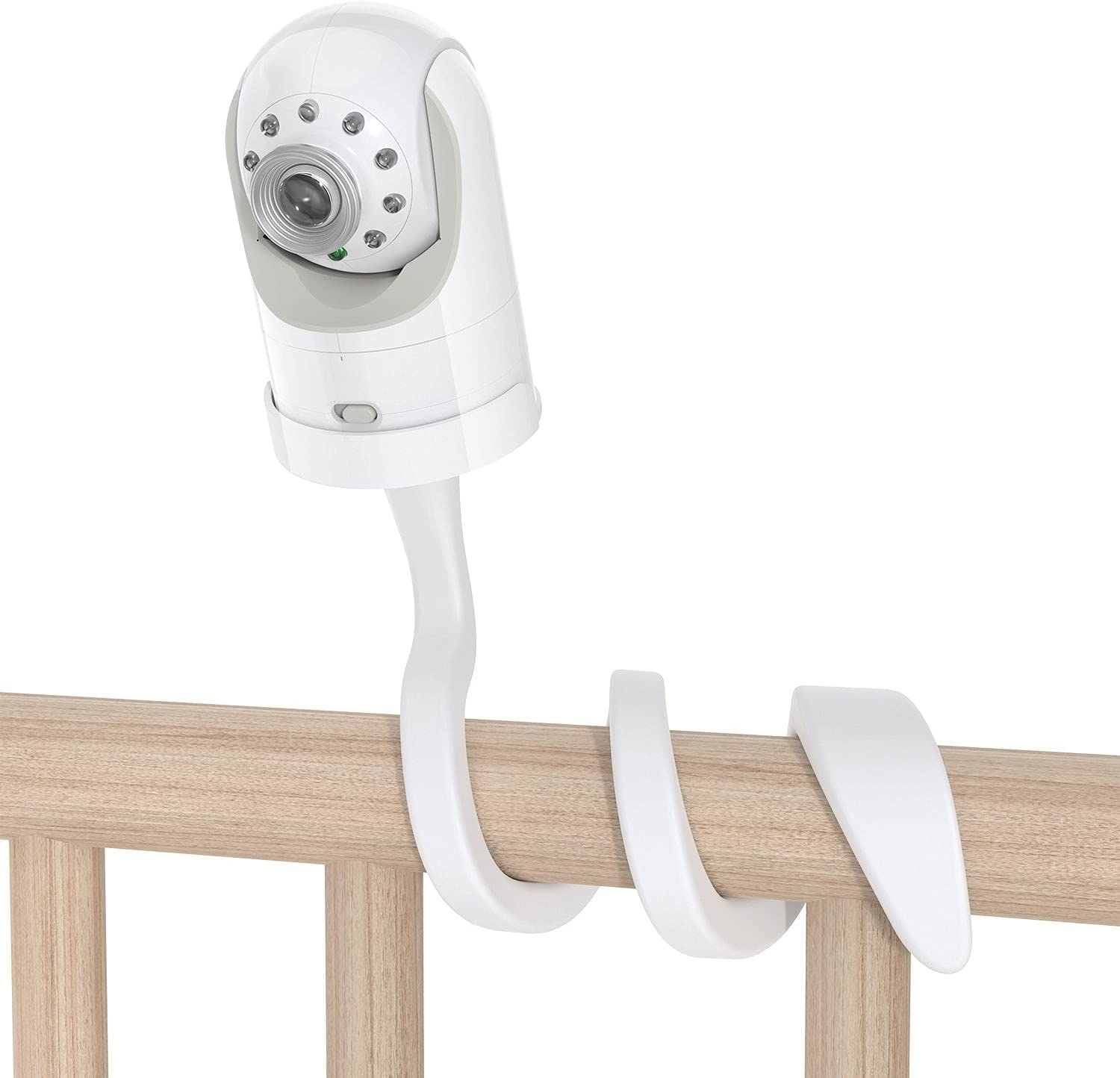 Adjustable Crib Mount Camera Shelf, Infant Baby Camera Holder Compatible with Infant Optics DXR-8 and DXR-8 Pro Baby Monitor, Security and Sturdy, Easy to Install, White