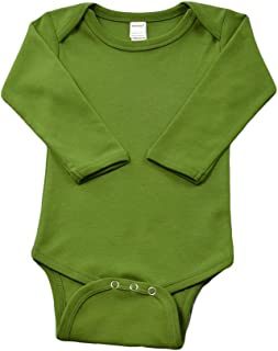 olive green long sleeve onesie
