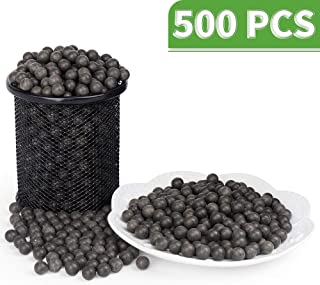 LuckIn Slingshot Ammo Balls 3/8 inch, Hard Clay Ball Biodegradable with Carrying Bag, Soil Color, 500 Pcs