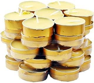 Mandala Crafts Tibetan Tealight Vanaspati Ghee Butter Lamp Candle Set for Meditation, Ceremonies, Rituals, Altars, Dawali; 35 Pack