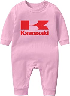 Short Sleeve Baby Onesies Kawasaki-Motorcycle-Logo- Newborn Clothes Baby Outfits Baby Jumpsuit