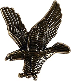 Guoshang Brooch Pin for Men Gold Silver Eagle Jewelry Lapel Pin Flying Eagle Pin Suit Decoration