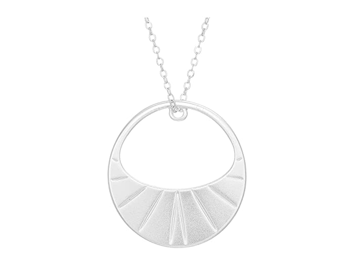 Lucky Brand  Basic Pendant Necklace (Silver) Necklace