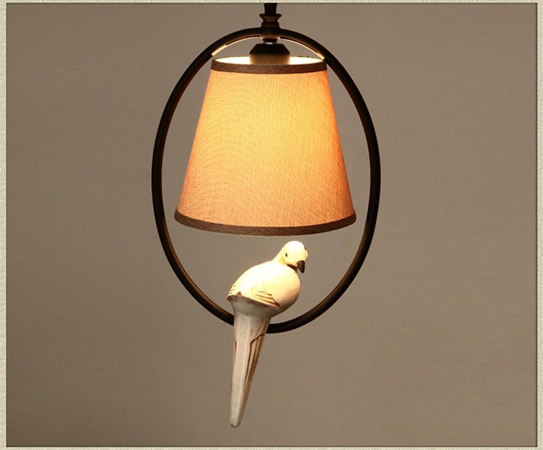 YXLZZO American Village Kronleuchter Kreatives Wohnzimmer Lichter Single Vogel Balkon Kronleuchter Einfache Schlafzimmer Bedside Kronleuchter Leuchter