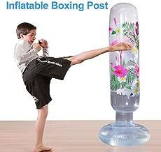 Wocume Hauteur R/églable Enfants Punching Ball Sac Vitesse Boxe Sports Set Jeu De Combat avec des Gants