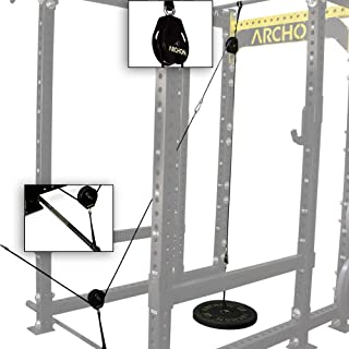 ARCHON Fitness Single Pulley Cable Station | Cable Machine | Pulley System | LAT Pull | Triceps Rope | Biceps Curl | Home Gym Equipment | Workout Accessories | Cable Machine Attachments