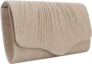 TWTAI Yellow Gold Silver Black Fashion Large Capacity Dinner Bag Evening Bag Clutch Bag Clutch Bag 25 * 5.5 * 15cm (Color : Gold)